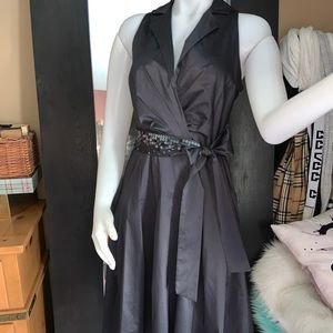 Ak Anne Klein sateen dress 4 nwot